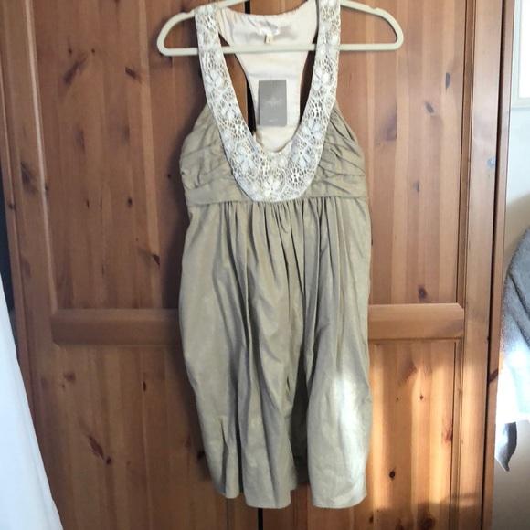 Molly New York Dresses & Skirts - Anthropologie racer back lace detail dress